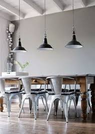 Lighting For Dining Room Table Create A Warm Industrial Living Space Industrial Dining Rooms