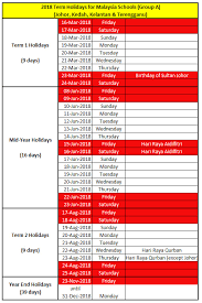 malaysia schools terms and festival holidays new year hari