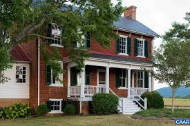 colonial house with farmers porch charlottesville historic 19th century estates for sale