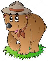 imagenes animadas oso dibujos animados de oso feliz scout archivo imágenes vectoriales