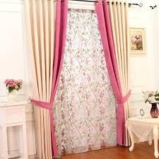 Pink And Teal Curtains Decorating Graceful Chenille Living Room Pink And Curtains