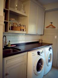 Laundry Room Vanity Cabinet by White Wood Completed Laundry Room