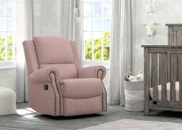 Glider Recliner With Ottoman For Nursery Nursery Swivel Glider And Ottoman Ella Brown Fabric Recliner Chair