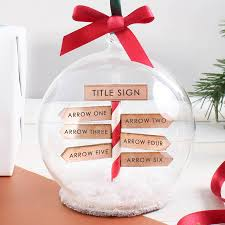 personalised family christmas sign post bauble by no ordinary gift