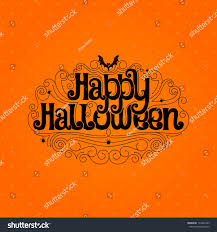 happy halloween typography banner stock vector 113468743