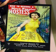 Hostess Gifts For Bridal Shower Retro Drink Coaster Set 50s Housewife Bridal Shower Decor
