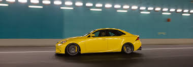 lexus is350 f kit lfa yellow lexus is f sport on vossen cv3 r