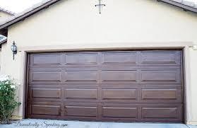 Garage Door Curb Appeal - diy garage door makeover with stain domestically speaking