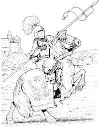 knights guard the castle coloring pages for kids bwr printable