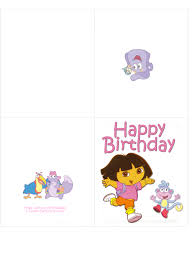 dora and boots happy birthday card clip art library