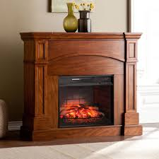 Infrared Electric Fireplaces by Harper Blvd Hawkins Oak Saddle Corner Convertible Infrared