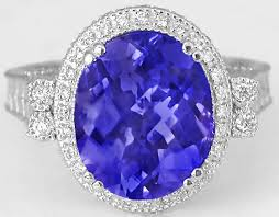diamond tanzanite rings images 6 carat oval tanzanite and diamond ring with engraving and jpg