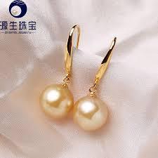 design of earing 18k gold hook earrings south sea pearl earrings 9mm simple design