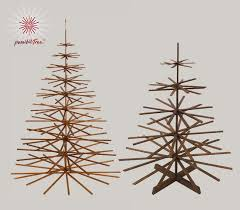 wooden christmas tree if it s hip it s here archives modern wood christmas tree by