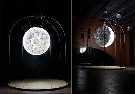 Moon Light Fixture New Moon An Interactive Light Installation Made From 5 500