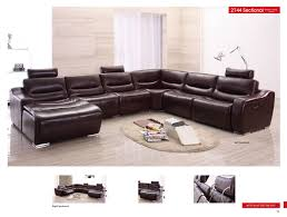 Leather Sectional Living Room Furniture 2144 Sectional W Recliner Recliners Living Room Furniture