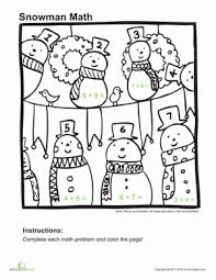 10 winter math worksheets education com