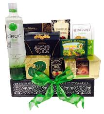 vodka gift baskets green with envy vodka gift basket by pompei baskets