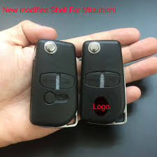 asx mitsubishi modified new car key modified folding flip key shell for mitsubishi lancer