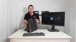 Video Gaming Desk by Asus Rog G20 Slim Gaming Desktop Unboxing Video Youtube