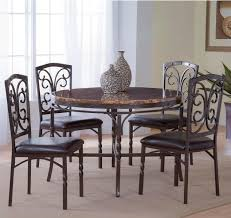 bernards tuscan 5 piece metal faux marble dinette table set