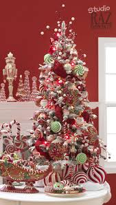 red and white candy tree decorations house design ideas