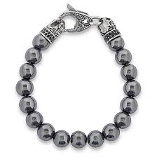onyx bead bracelet images Men 39 s crucible stainless steel dragon with polished hematite onyx