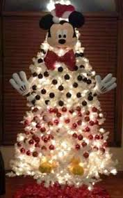 white christmas trees christmas tree decorating idea mickey mouse on white tree country