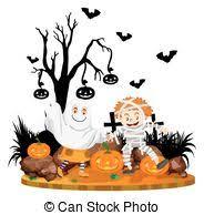 cute halloween mummy clip art clip art vector of kid in halloween mummy costume drawing art of