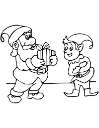 christmas elf santa coloring free printable coloring pages