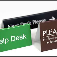 Desk Signs For Office Front Desk Signs Lasprint Nigeria