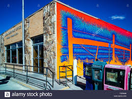 colorful exterior wall mural by artist david klaren us post colorful exterior wall mural by artist david klaren us post office pinedale wyoming usa