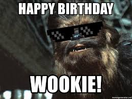 Meme Generator Deal With It - happy birthday wookie deal with it chewbacca meme generator