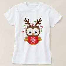 christmas shirts christmas owl t shirts shirt designs zazzle