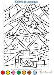 Coloriage magique Noël maternelle  Coloriage magique