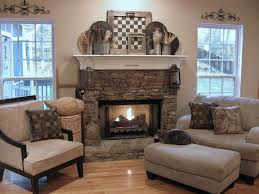 Fireplace Wall Decor by Decorations Rustic Mantel Decor Style With Stone Surround And
