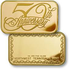 50th anniversary gold plate celebration coins bars anniversary coins bars