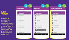 layout template listview design ui android app template