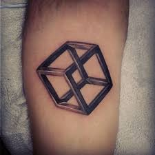 15 escher cube tattoos