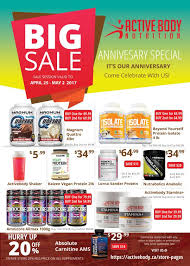 activebody 2017 anniversary sale flyer activebody 2017 anniversary