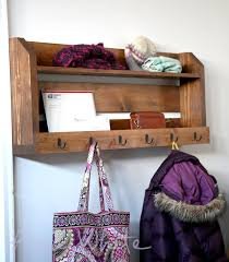 Small Shelf Woodworking Plans by Ana White Small Pallet Inspired Coat Rack With Shelves Diy
