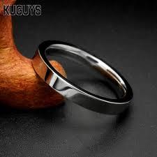 s day rings kuguys simple silver rings women men stainless steel