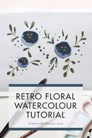 best 25 retro flowers ideas on pinterest retro pattern vintage how to paint retro flowers watercolour tutorial