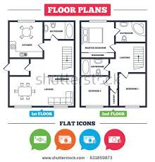 house architecture plans architecture plan furniture house floor plan stock vector