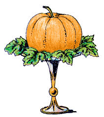 vintage clip art pumpkin on a pedestal the graphics fairy