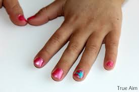 invitation to create kid friendly nail art true aim