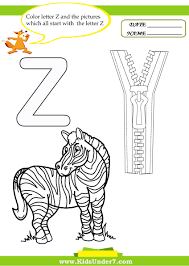 kids under 7 letter z worksheets and coloring pages