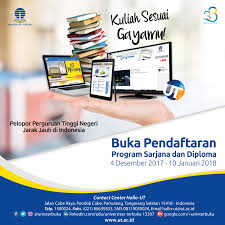 pendaftaran tutorial online ut pendaftaran calon mahasiswa baru 2017 18 2 telah dibuka upbjj ut