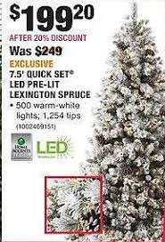 home depot black friday home accents 7 5 set led pre lit