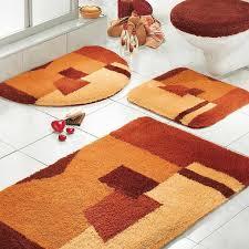 Orange And White Rugs Bathroom Ideas Orange Rug Walmart Bathroom Sets With Toilet And